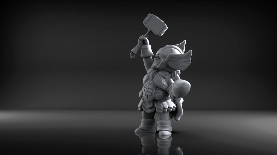 Chubby Thor (low res) 3D Print 206058