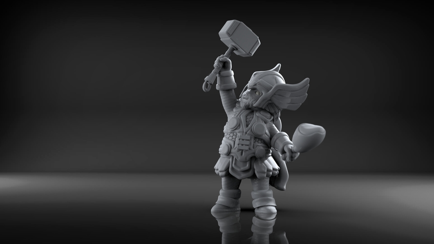 Chubby Thor (low res) 3D Print 206059