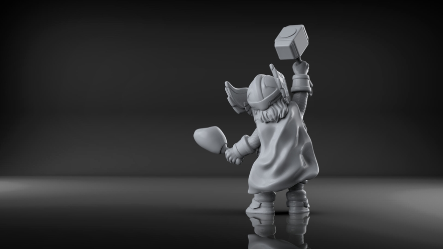 Chubby Thor (low res) 3D Print 206060