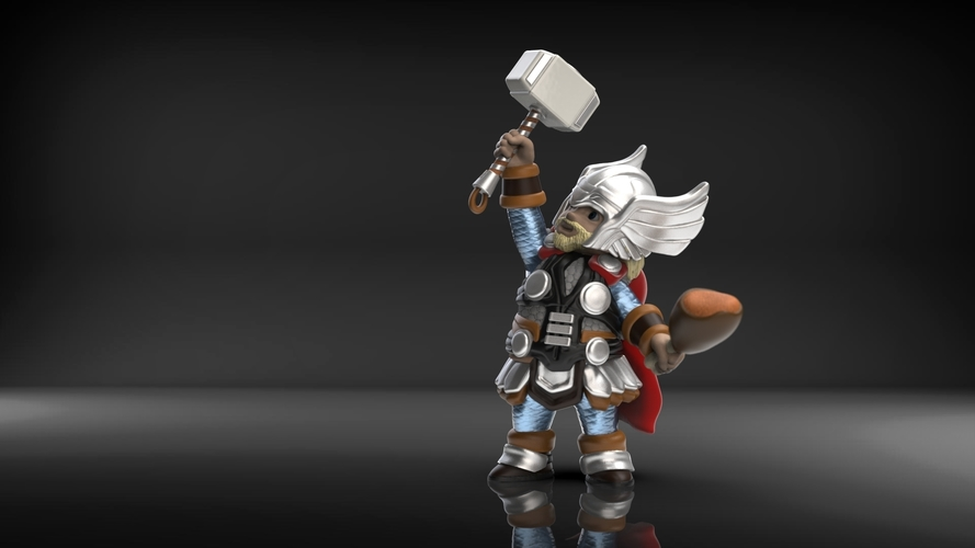 Chubby Thor (low res) 3D Print 206061