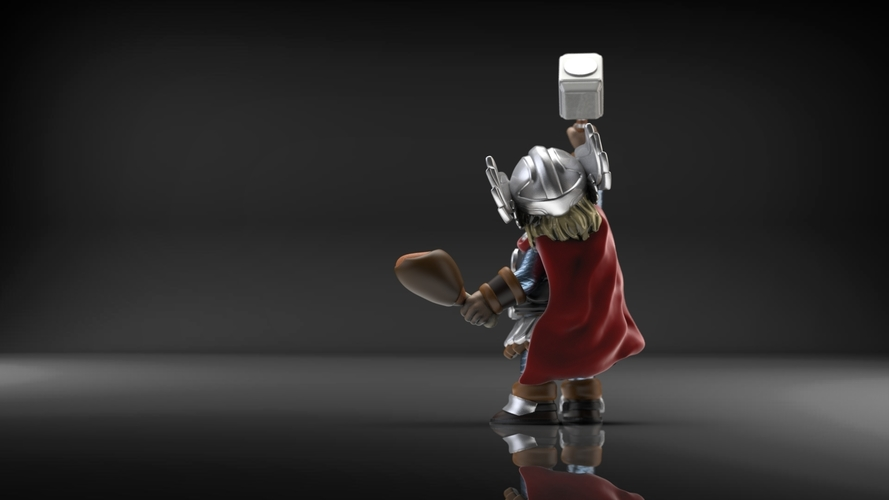 Chubby Thor (low res) 3D Print 206063