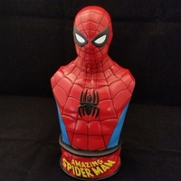 Small VINTAGE SPIDER-MAN BUST 3D Printing 206065
