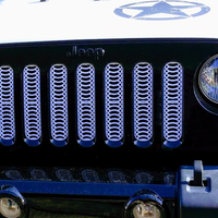 Small Jeep Wrangler JK Grille Inserts with Grill Design 3D Printing 206098