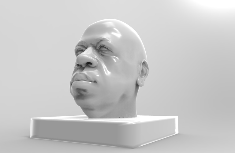 african head model sculpted on only 3 pics 3D Print 2061