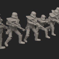 Small Necro-Trooper Commander Bundle 3D Printing 206129