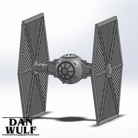 Small Star Wars Legion Terrain - DWG TIE Fighter 3D Printing 206175