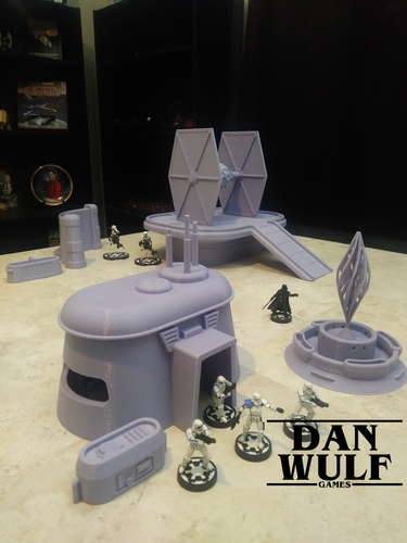Star Wars Legion Terrain - DWG TIE Fighter 3D Print 206177