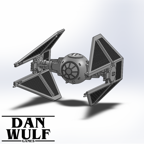 Medium Star Wars Legion Terrain - DWG TIE Interceptor 3D Printing 206178