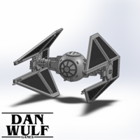 Small Star Wars Legion Terrain - DWG TIE Interceptor 3D Printing 206178