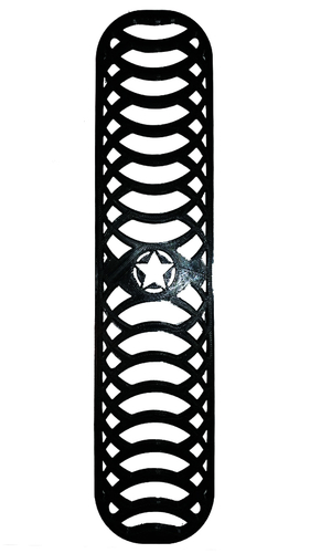 Jeep Wrangler JK Grille Inserts with Star Design 3D Print 206187