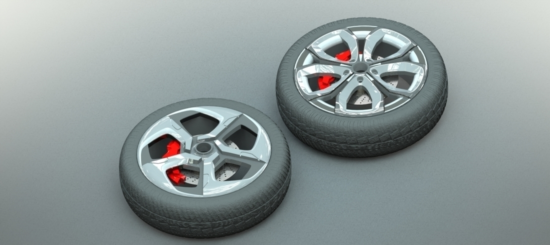 Car Rim Collection Set 1 3D Print 206193
