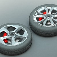 Small Car Rim Collection Set 1 3D Printing 206193