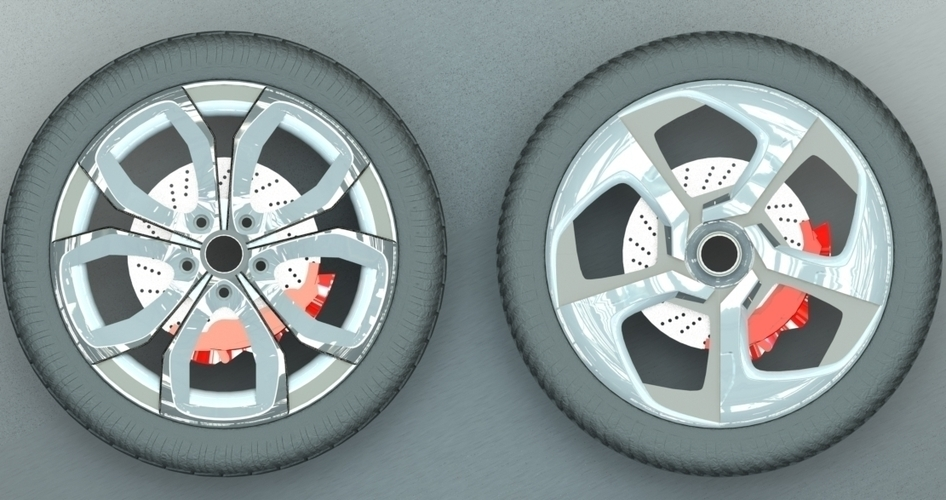 Car Rim Collection Set 1 3D Print 206194