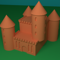 Small tiny castle 3D Printing 206294