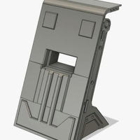 Small Barricade/Blast Shield - 28mm Terrain 3D Printing 206339
