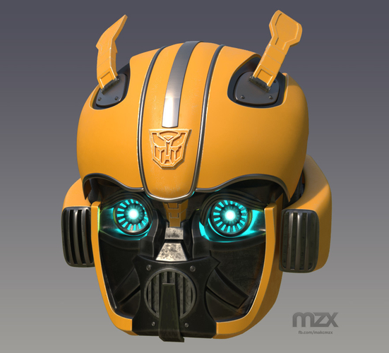 Bumblebee 2018 Head Wearable 3D Print 206344
