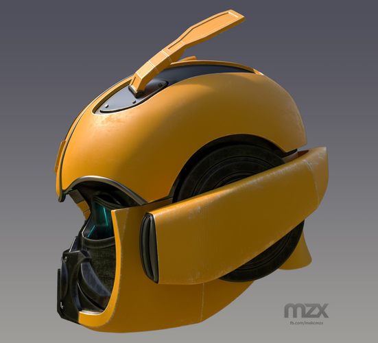 Bumblebee 2018 Head Wearable 3D Print 206345