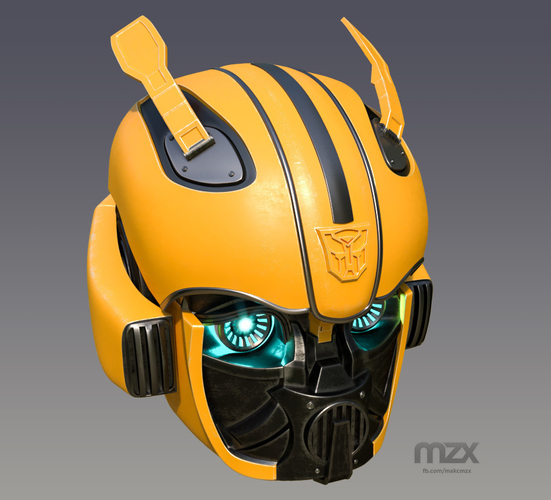 Bumblebee 2018 Head Wearable 3D Print 206346