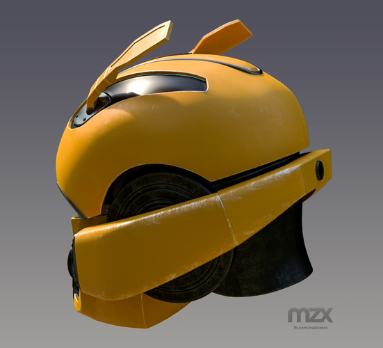 Bumblebee 2018 Head Wearable 3D Print 206347