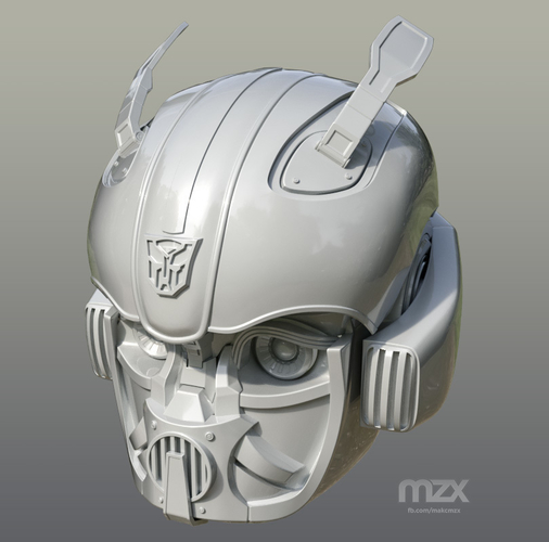 Bumblebee 2018 Head Wearable 3D Print 206348