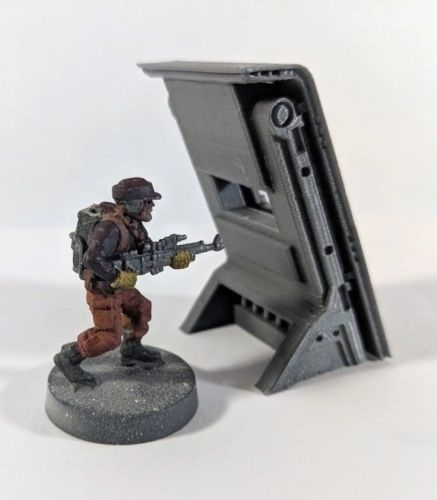 Barricade/Blast Shield - 28mm Terrain 3D Print 206354