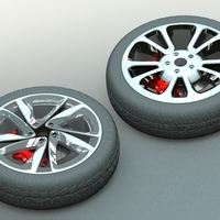 Small CAR RIM COLLECTION SET 2 3D Printing 206466