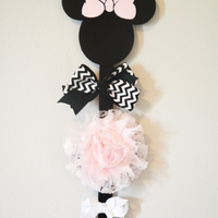 Small Minnie Mouse Bow Holder 3D Printing 206577