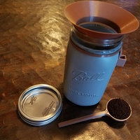 Small Coffee scoop, scoop holder, and funnel for mason jar  3D Printing 206605