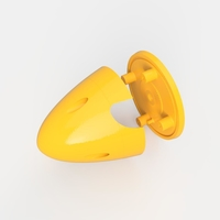 Small MUSTANG P51-D SPINNER 3D Printing 206712