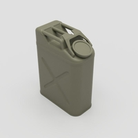 Small U.S. Army WW2 Jerry Can 1/10 Scale 3D Printing 206719