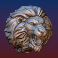 Small Lion head BEAD 3D Printing 206760