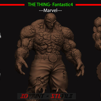 Small The Thing - Fantastic Four - Marvel 3D Printing 206831