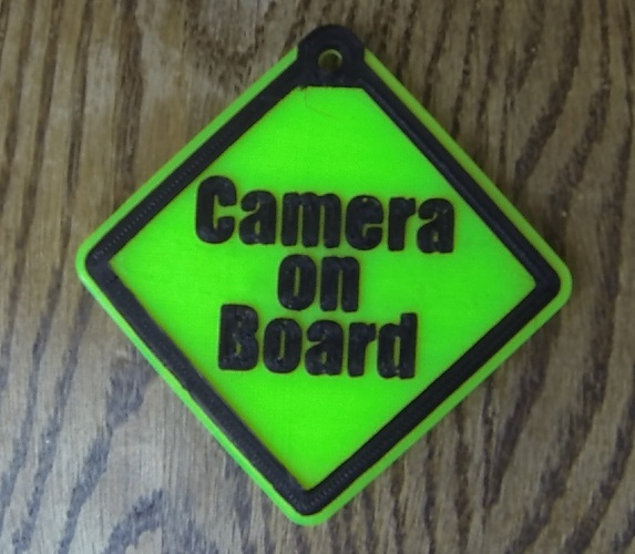 Camera On Board safety sign 3D Print 20692