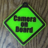 Small Camera On Board safety sign 3D Printing 20692