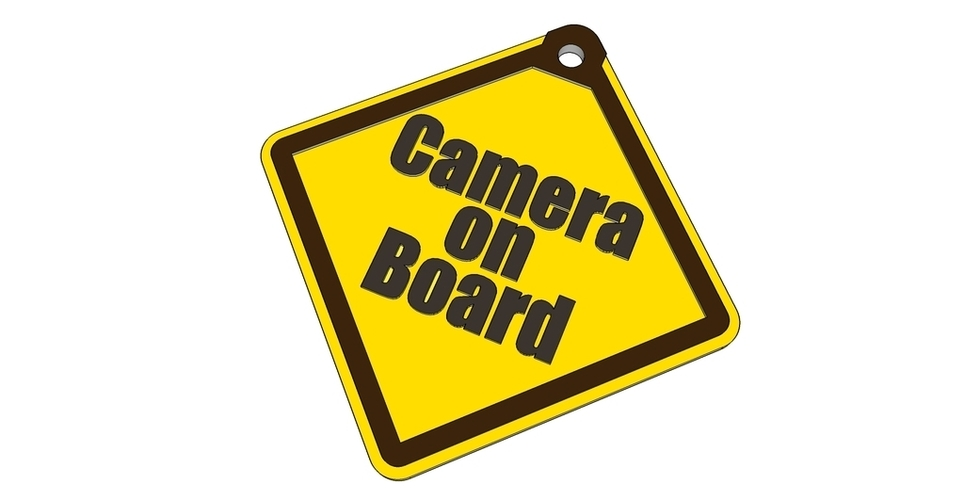 Camera On Board safety sign 3D Print 20693