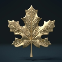 Small Maple Leaf 3D Printing 206969