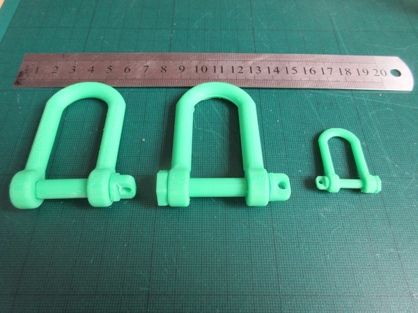 Medium Tank style Tow Hook (Shackle) 3D Printing 207041