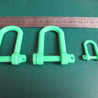 Small Tank style Tow Hook (Shackle) 3D Printing 207041