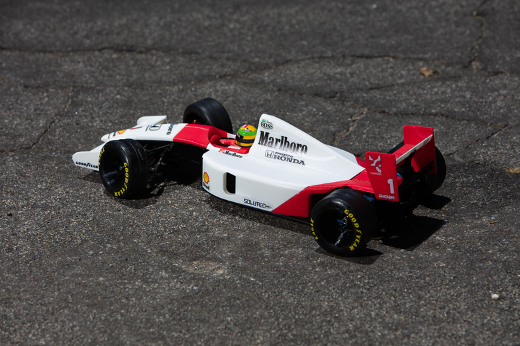 Aryton Senna's Mclaren MP4/6 3d Printed RC Car 3D Print 207089