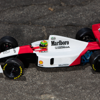 Small Aryton Senna's Mclaren MP4/6 3d Printed RC Car 3D Printing 207091