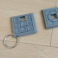 Small Two Sided Sliding Puzzle Key Ring 3D Printing 207099