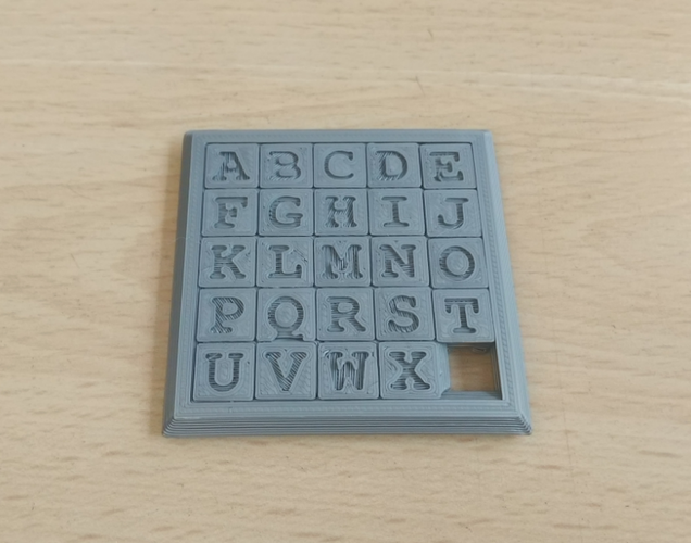 Two Sided Sliding Puzzle 3D Print 207136
