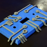 Small Circuit Light Switch Plate 3D Printing 207196