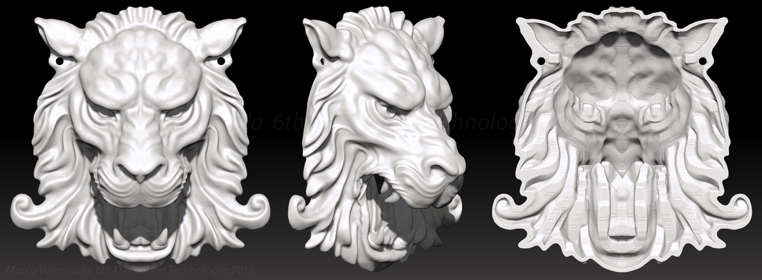 Lion Head Wall Decor 3D Print 207197