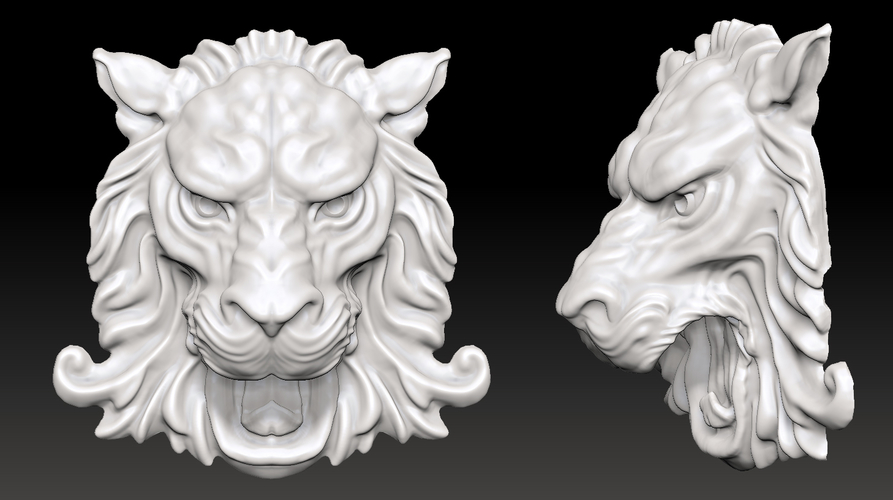 Lion Head Wall Decor 3D Print 207199