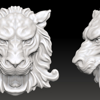 Small Lion Head Wall Decor 3D Printing 207199