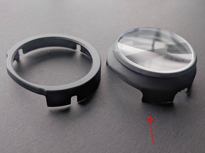 -4.25 Prescription Lens Adapter (old) - Windows Mixed Reality 3D Print 207220
