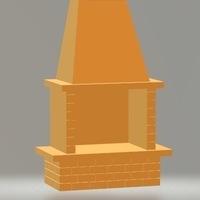 Small fireplace 3D Printing 207245