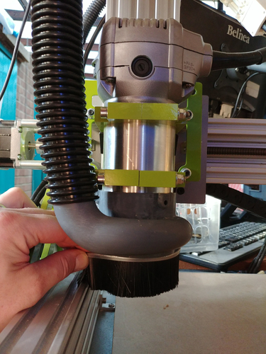 Compact CNC Router Dust Extractor Head 3D Print 207288