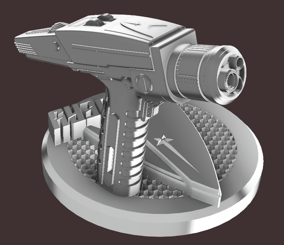 star trek discovery Phaser with stand  3D Print 207293